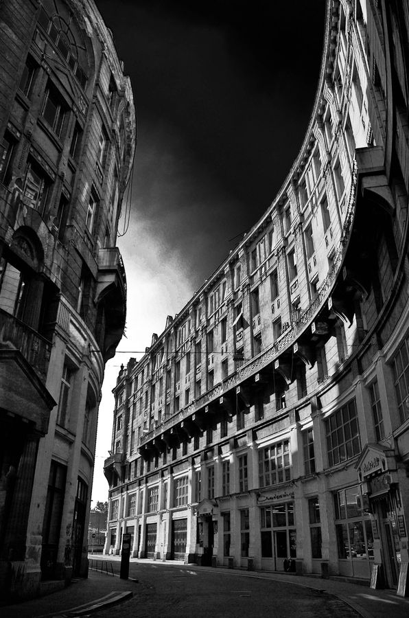 Anker köz, a small bending street in the downtown. #Budapest