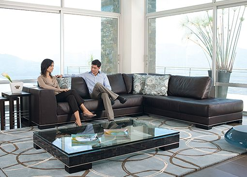 Muebles modernos muebles contempor neos sof s en cuero for Sofas de sala modernos