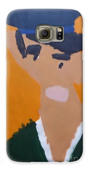 Galaxy S6 Case featuring the painting Young Man With A Hat 2014 - After Vincent Van Gogh by Patrick Francis