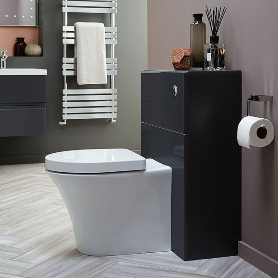 Vermont 600 Gloss Grey Wc Unit And Cistern | bathstore