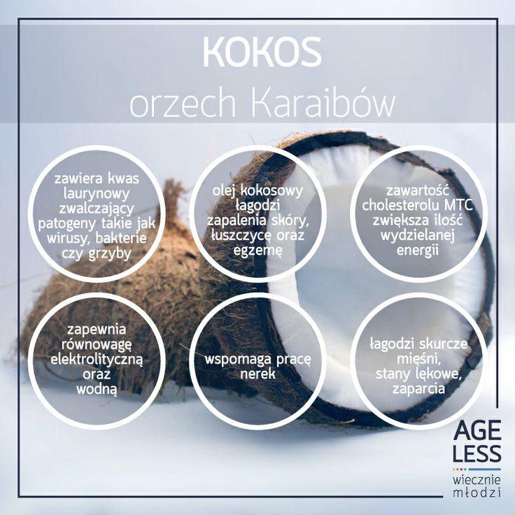 Kokos ma zbawienny wpływ na nasz organizm – spożywany regularnie skutecznie nas odmłodzi. A jakie Wy lubicie egzotyczne owoce? :)  #ageless #wiecznamlodosc #zdrowie #jedzenie #kokos #owoce www.ageless.pl