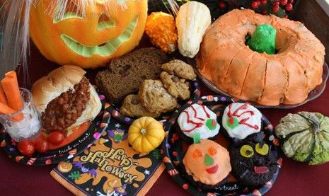 """WP 4 HALLOWEEN: SLOW Cooker Unsloppy JOES; Pumpkin Cranberry BREAD; Pumpkin Spice COOKIES; Chocolate Zucchini BUNDT. """"Healthy food to satisfy witches and goblins."""" Recipe. ~ The Western Producer"""