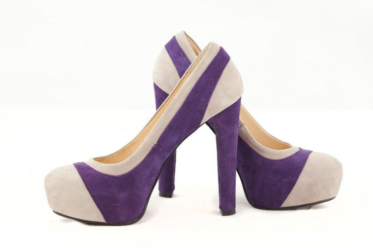 Start wearing purple! :)  Pantofi din piele intoarsa in 2 culori, disponibli in orice culoari si marimi - 180 lei