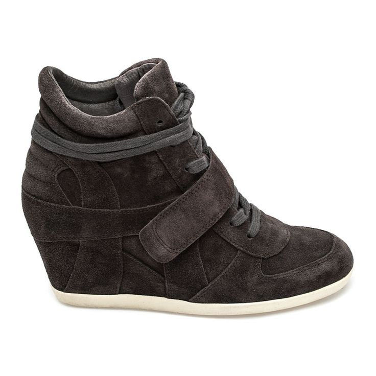 Ash  Bowie Womens Wedge Sneaker Bistro Suede 360288 (021)