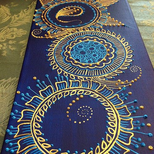 puffy paint henna on canvas - Google Search More