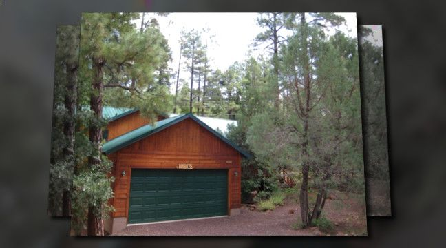 Our cabin in Pinetop Arizona.  My most favorite place in the world.