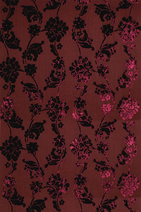 Anna French velvet floral wallpaper