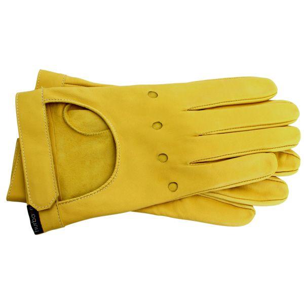 Gants rallye Hurbane - cuir jaune
