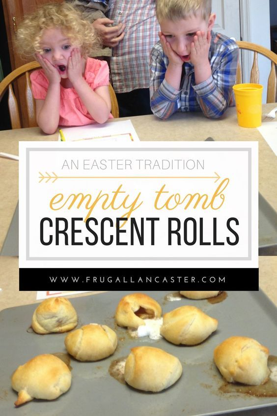 Empty Tomb Crescent Rolls {An Easter Family Tradition} If you aren't familiar with this cute family activity—it is a simple recipe where you take a marshmallow, roll it in butter then cinnamon sugar and wrap it in a crescent roll. Christian   Easter idea   Kids Activities   Toddlers   Jesus   Intentional Family Time