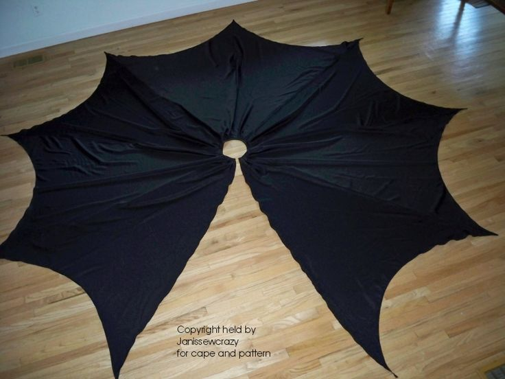 circle cape pattern | Details about Batman CAPE Bat Man Black Cloak SuperHero Owl Very Large ...