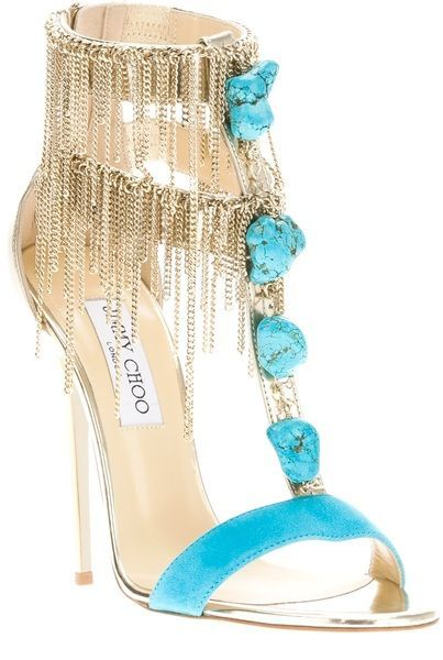 JIMMY CHOO  Blue Belle Sandal Pumps