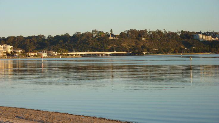 Narrows Bridge & Kings Park from South Perth