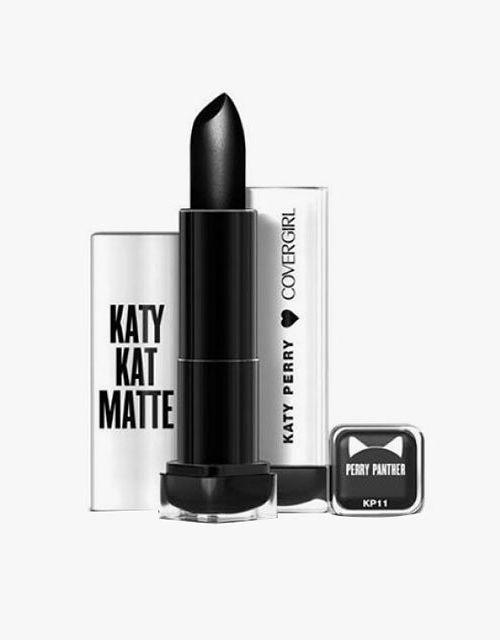 Virgo: CoverGirl Katy Kat Matte Lipstick in Black.