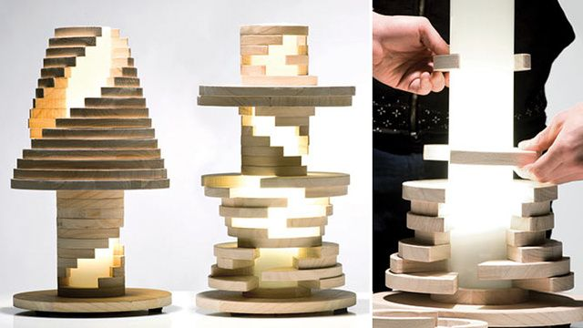Just Re-Stack and Twist This Lamp When You Get Bored of Its Design