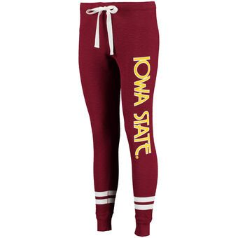 Iowa State Cyclones Women's Game Day Striped Thermal Jogger Pants - Cardinal
