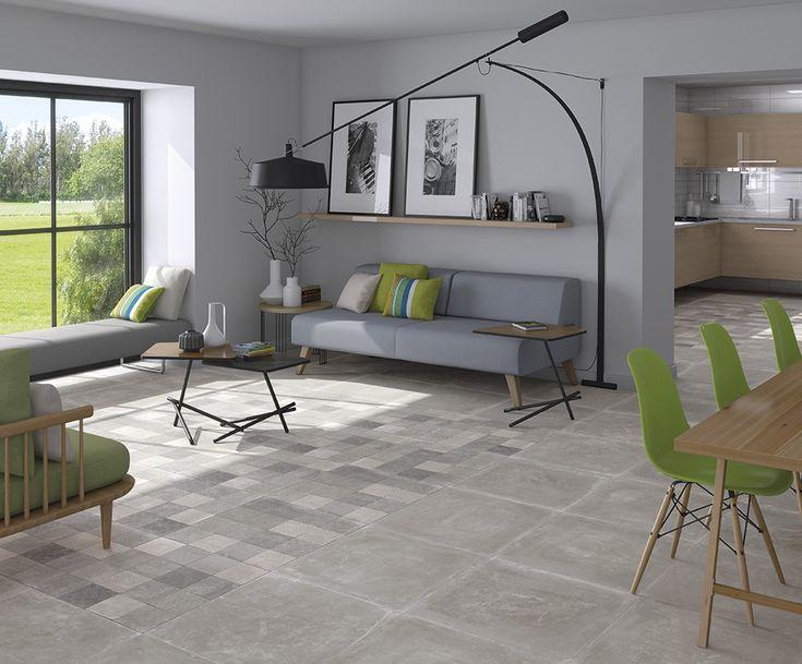 ARCANA Tiles | Tempo Gris 60x60 cm. | Bessel Gris 60x60 cm. | living room | arcana cerámica