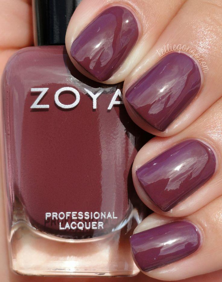 zoya aurora nail polish ☆ big glitter polish love ☆ purple ☆ holo ...