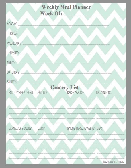 general grocery list