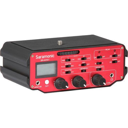 Saramonic Saramonic SR-AX107 2-Channel XLR Audio Adapter with Isolation Transformer for DSLRs