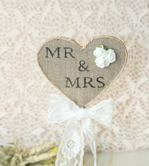 Mr & Mrs wedding cake topper. I like this but with different flowers?