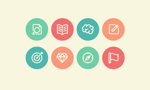 50 Flat Icons Set, Best for Web and App UI Design   Icons   Design Blog