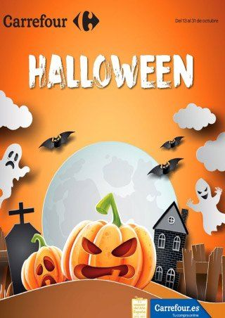 Catálogo Carrefour Halloween del 13 al 31 de Octubre -  Folleto Carrefour especial Halloween del 13 al 31 de octubre de 2017. Celebra un Halloween de miedo en Carrefour, podrás comprar disfraces de bebé, infantiles, máscaras, pinturas, accesorios, gominolas… Folleto online Halloween    #halloween #CatálogosCarrefour, #Catálogosonline   Ver en la web : https://ofertassupermercados.es/catalogo-halloween-del-13-al-31-octubre/