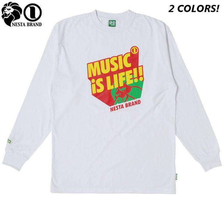 """【NESTA BRAND】【ネスタブランド】ロングTシャツ """"EXPANDER"""" ブラック・ホワイト XS-2XL【ロンT】【ラスタ】【レゲエ】【トレーナー】【Rasta】【長そで】【長袖】【黒】【black】【ロングスリーブ】【tshirts】【LS1205H】【あす楽】【楽天市場】"""