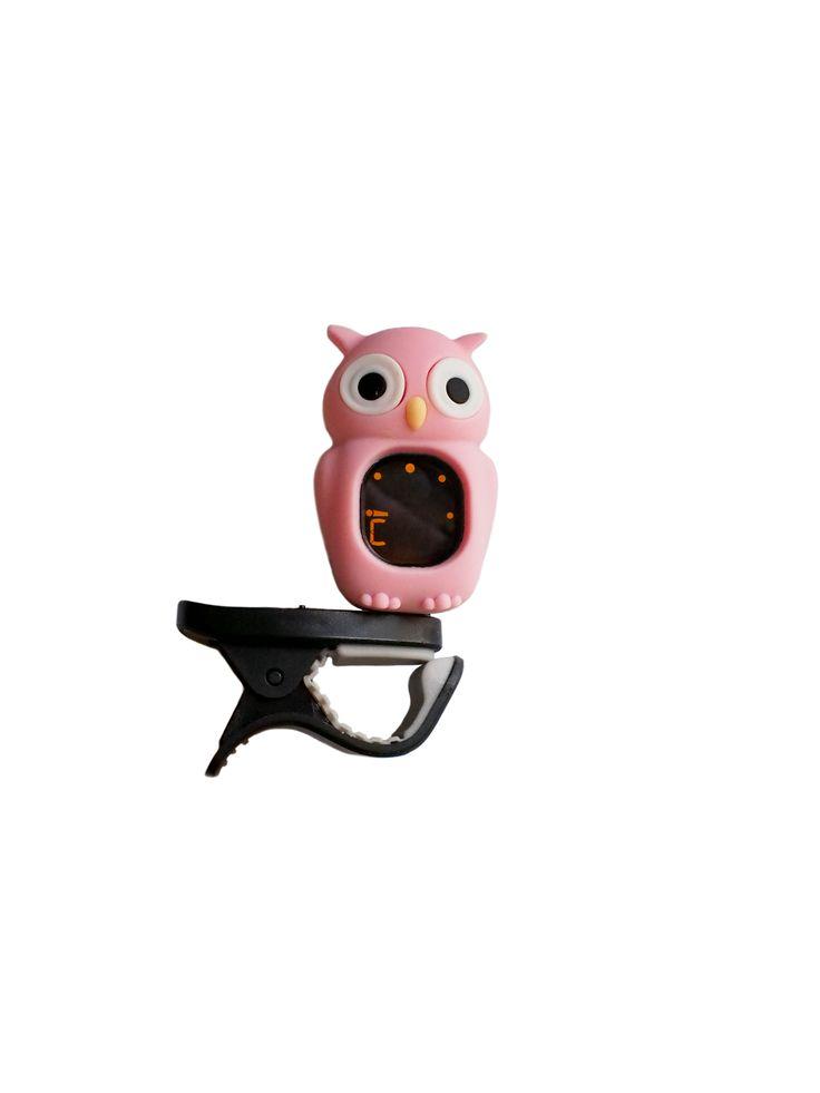 Owl Digital Clip-On Tuner for ANY Instrument - Guitar, Ukulele, Violin, Cello, Bass, Mandolin, Banjo, Chromatic Setting