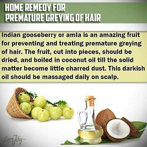 Home remedy for premature greying of hair