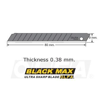 Repuesto Universal Chico Negro (10 Unidades):        Repuesto universal chico.   Metal negro ultra afilado.  Repuesto específico para los siguientes Cuchillos OLFA: 180BLACK, A-3, A-5, SVR-1 y 300.  Cantidad: 10 unidades.  Código producto: ASBB-10
