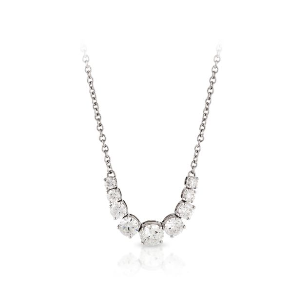 18ct White Gold Necklet   Hardy Brothers