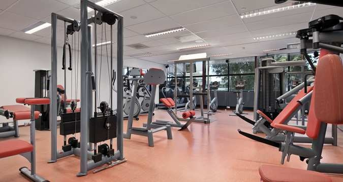 Rehberg's Amsterdam accomodations touted a large fitness center with the latest modern equipment.  Beats the House gym, doesn't it?