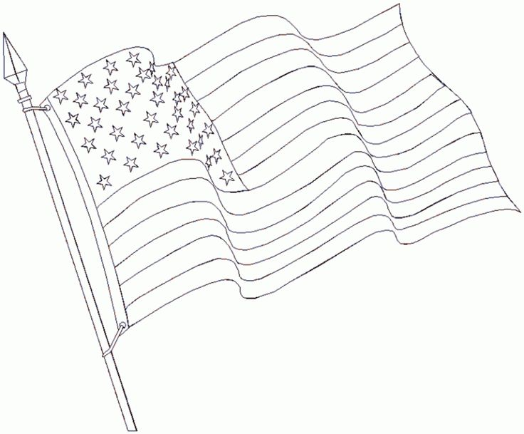 Printable Pictures Of American Flag - AZ Coloring Pages