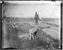Hart Island, New York - trenches in the potters field