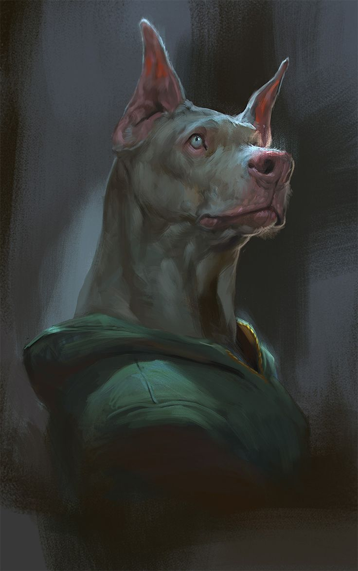 Mr doberman portrait, Rudy Siswanto on ArtStation at https://www.artstation.com/artwork/3aQwA?utm_campaign=digest&utm_medium=email&utm_source=email_digest_mailer