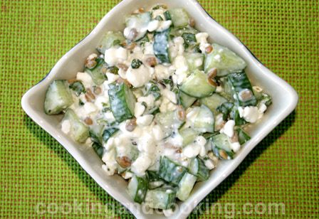 Cucumber Cottage Cheese Salad Recipe