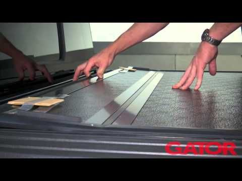 How to Install Gator FX Hard Folding Tonneau Cover at AutoCustoms.com - YouTube