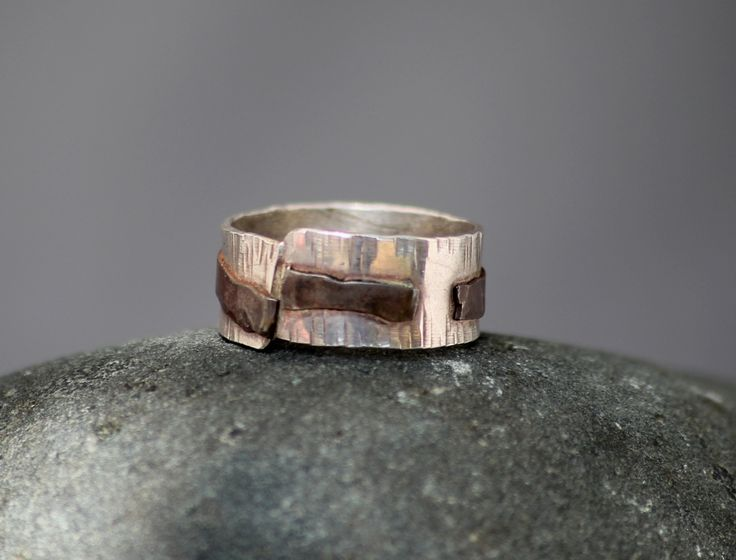 Copper Wrapped Bark Ring