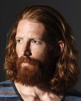 long redhead hairstyle & beard. See more at www.guyslonghair.com                                                                                                                                                                                 More