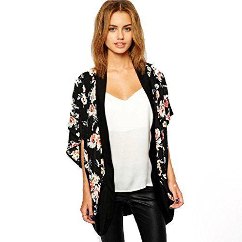 Tonsee® Femmes Floral imprimé Splice Mousseline de Soie Châle Kimono Cardigan Tops Couvrez-vous (XL) Tonsee® http://www.amazon.fr/dp/B013STW7DC/ref=cm_sw_r_pi_dp_aOqZwb0T1309E                                                                                                                                                      Plus
