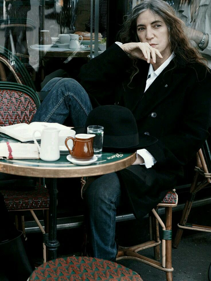 Patti Smith by Annie Leibowitz @ Cafe de Flore.