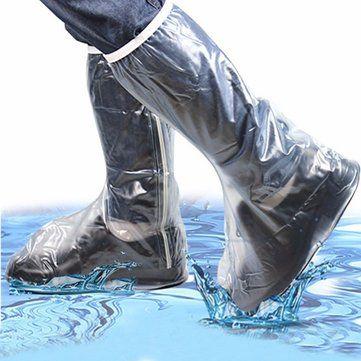 Men Women Rain Shoes Cover Waterproof High Boots Flats Slip-resistant Overshoes Rain Gear