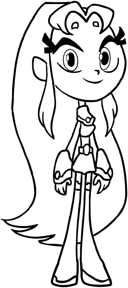 starfire coloring pages online - photo#4