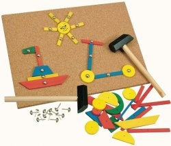 Santa brought us one of these (ca. 30s) and we had such fun hammering many little 'pictures' onto the board.
