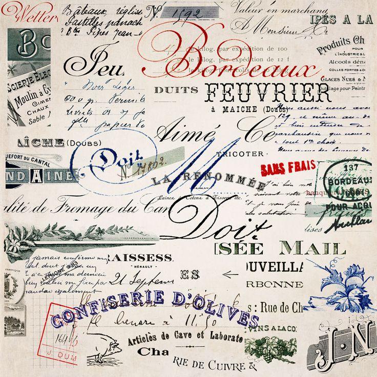 papel frances letras carta Vintage french paper 2