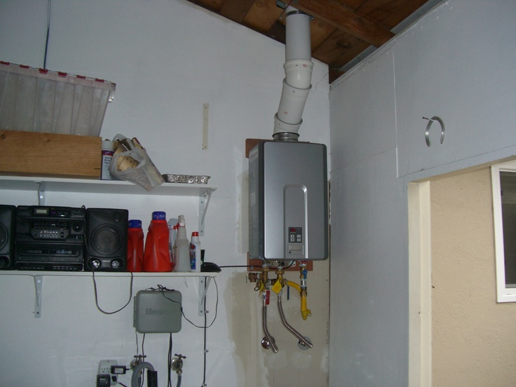 space saving garage rinnai tankless install space saving in garage plumbing work