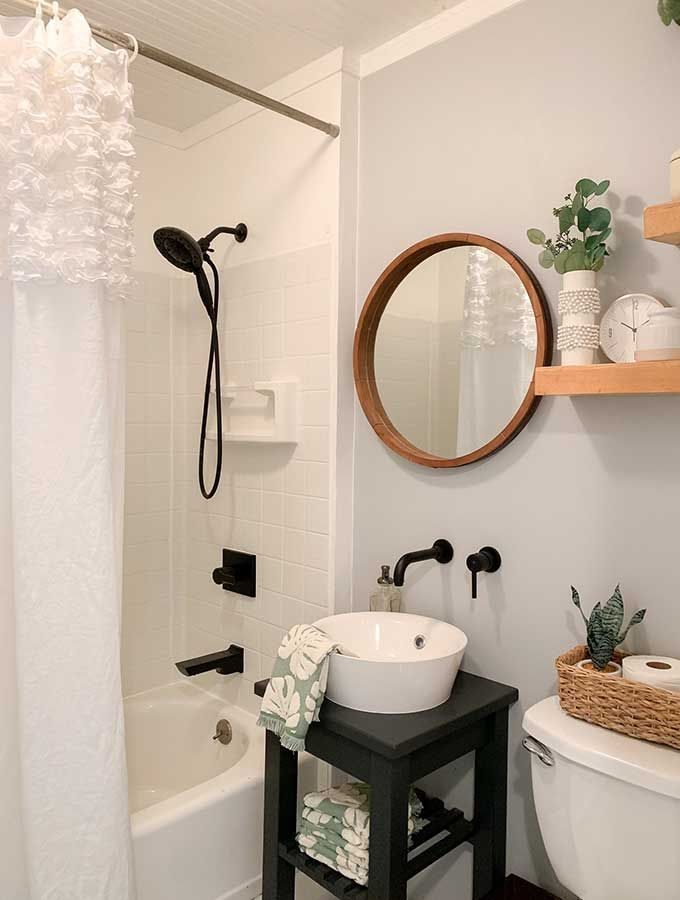 Small Bathroom Makeover Ideas Guest Bathroom Guest Toilet Paint Color Bathroom Ma Small In 2020 Guest Bathroom Small Bathroom Makeover Small Bathroom Makeover