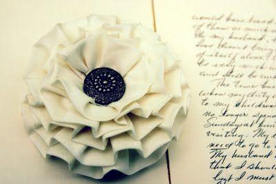 Folded Fabric Flower