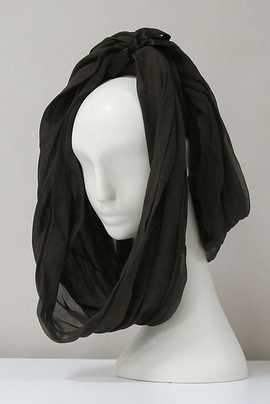 Hat   Cristóbal Balenciaga (Spanish, 1895-1972)   Date: 1960's   Material: silk   The Metropolitan Museum of Art, New York