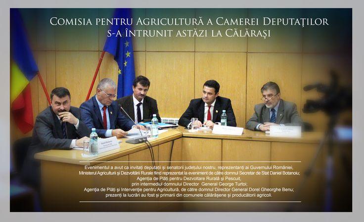 Comisia pentru Agricultură a Camerei Deputaţilor s-a întrunit astazi la Călăraşi.